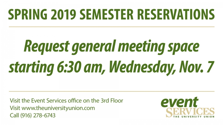 Updated: Reservation Requests for Dates Beyond Fall 2018