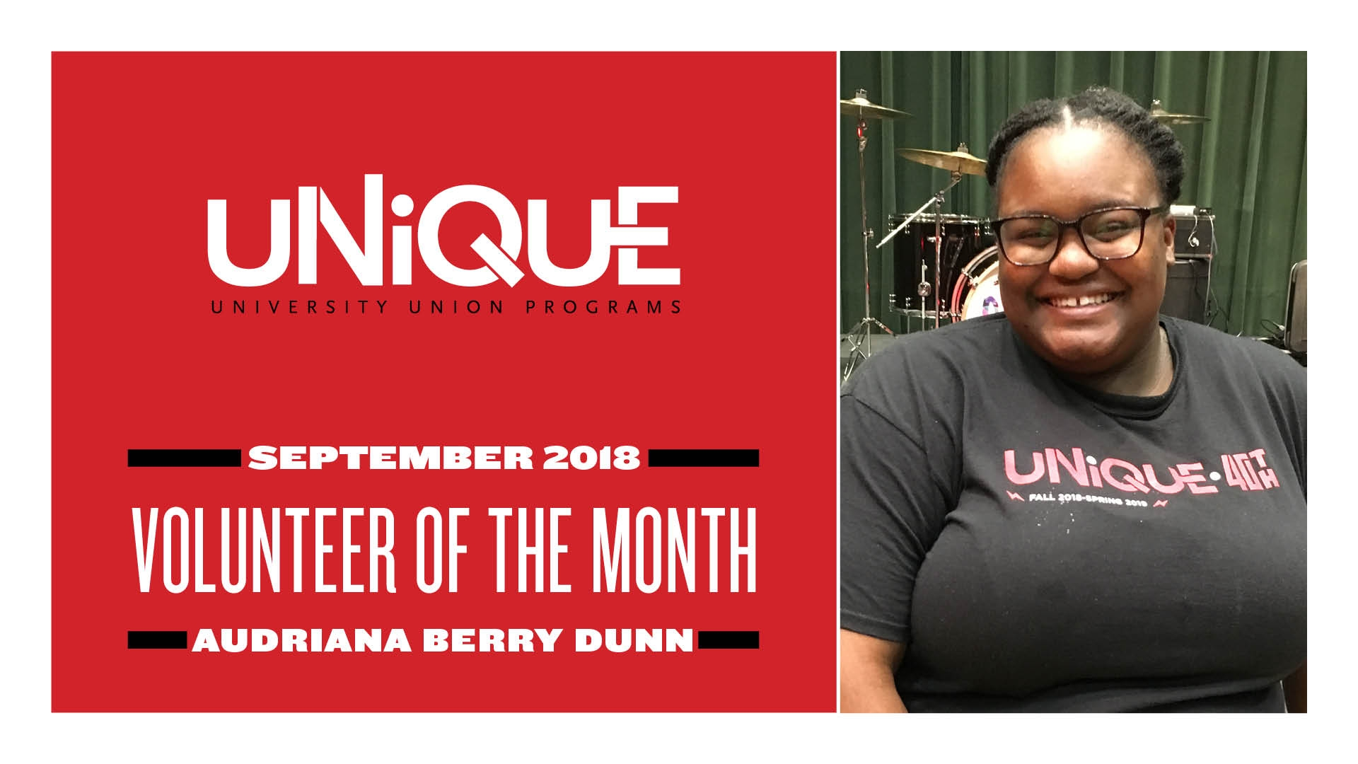 UNIQUE Volunteer of the Month