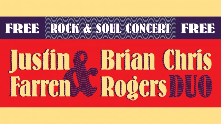 Justin Farren & Brian Chris Rogers Duo on Wed, November 28 at 12 pm in the University Union Redwood Rooom